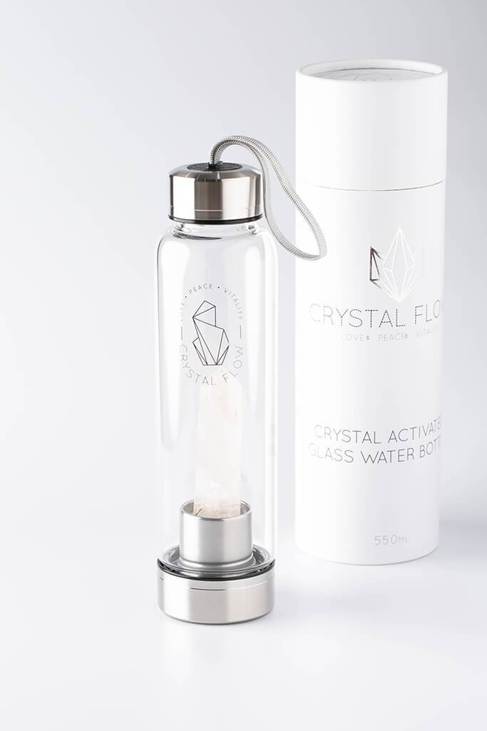 Clear Clear Quartz Crystal Water Bottle view 3