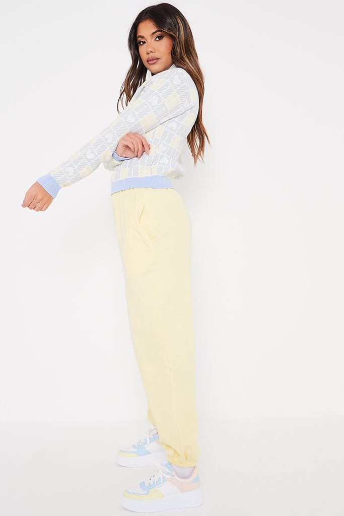 Baby Blue Heart Jacquard Crew Neck Jumper view 3