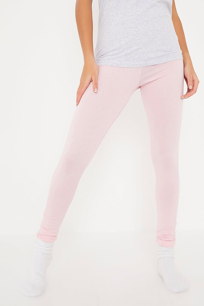 Baby Pink Amour Leggings And Tee Pyjama Set view 2