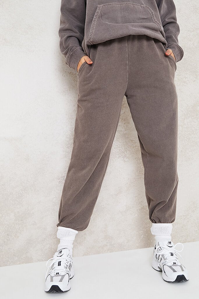 Brown Ultimate Oversized Washed Basic Joggers view 2
