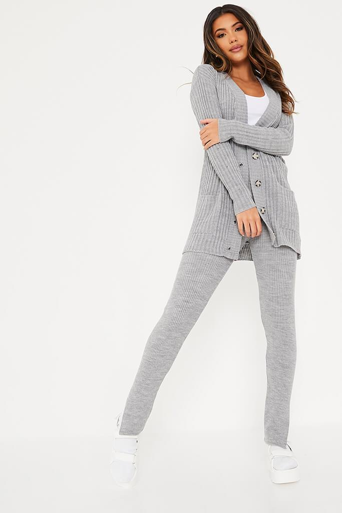 Grey Knitted Leggings