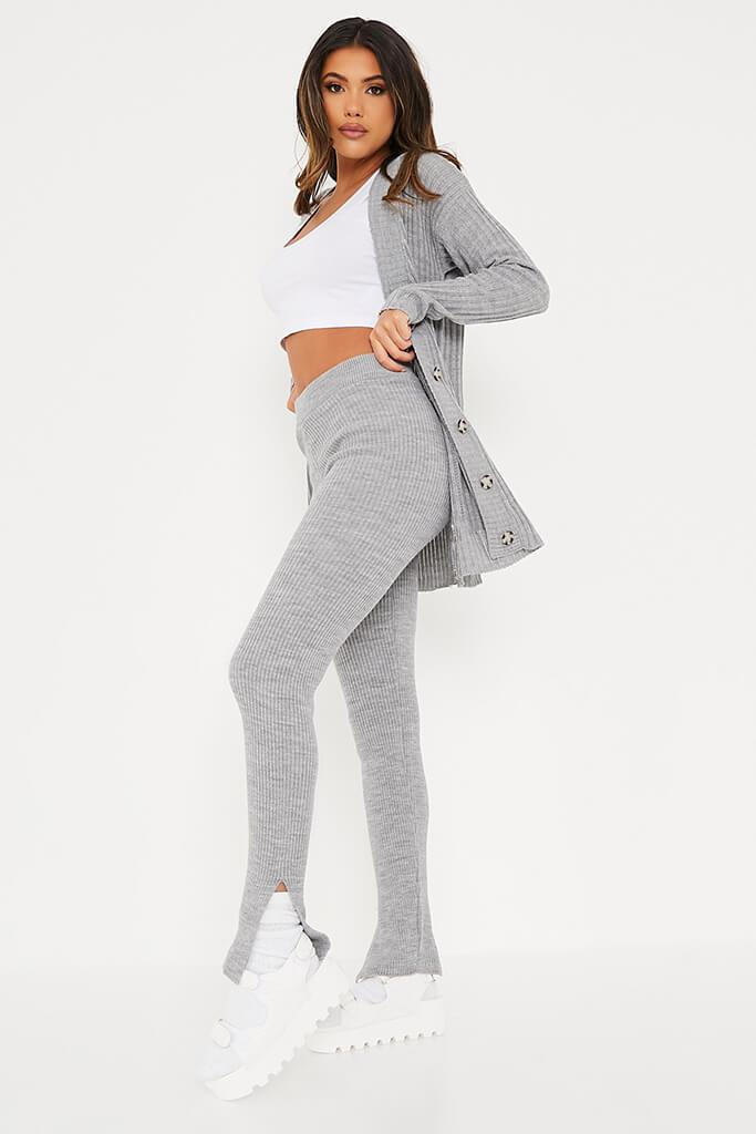 Grey Knitted Leggings view 3