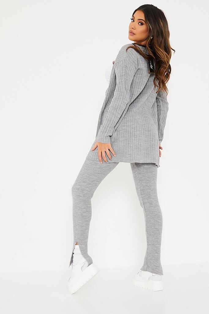 Grey Knitted Leggings view 4