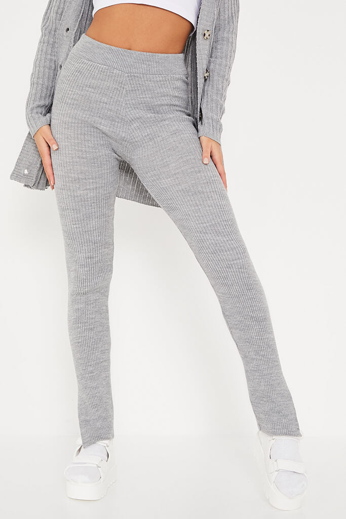 Grey Knitted Leggings view 2