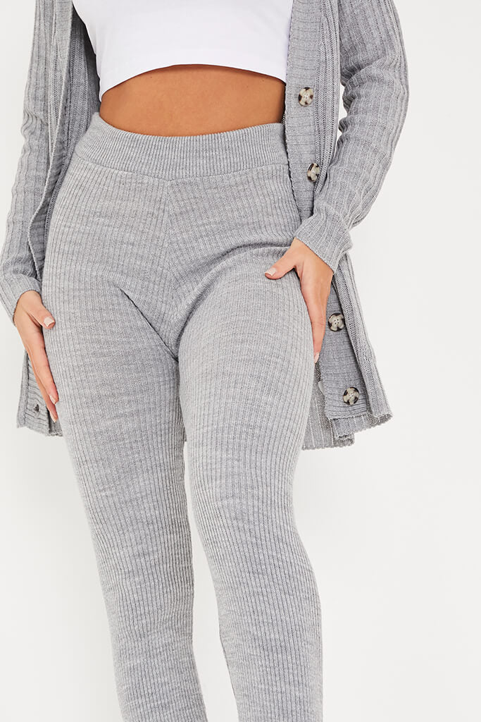Grey Knitted Leggings view 5