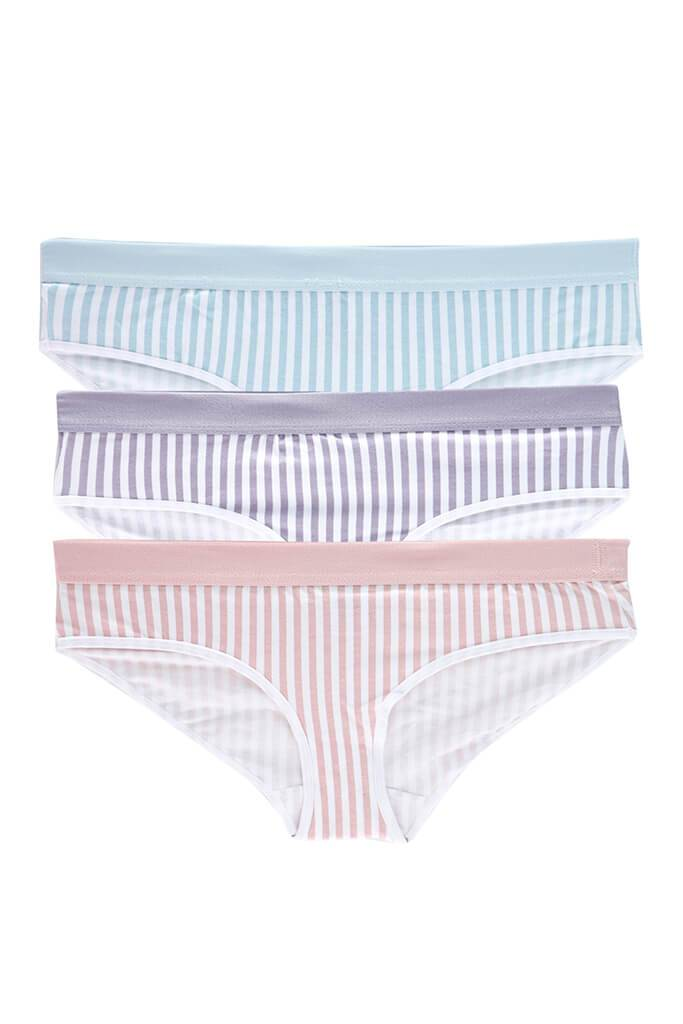 Multi Stripe Multi 3 Pack Of Taped Briefs