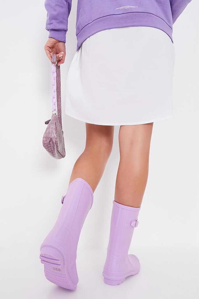 Lilac Buckle Detail Short Wellies view 3