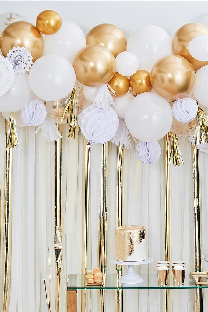 Gold Ginger Ray Metallic Fancy Balloon Garland