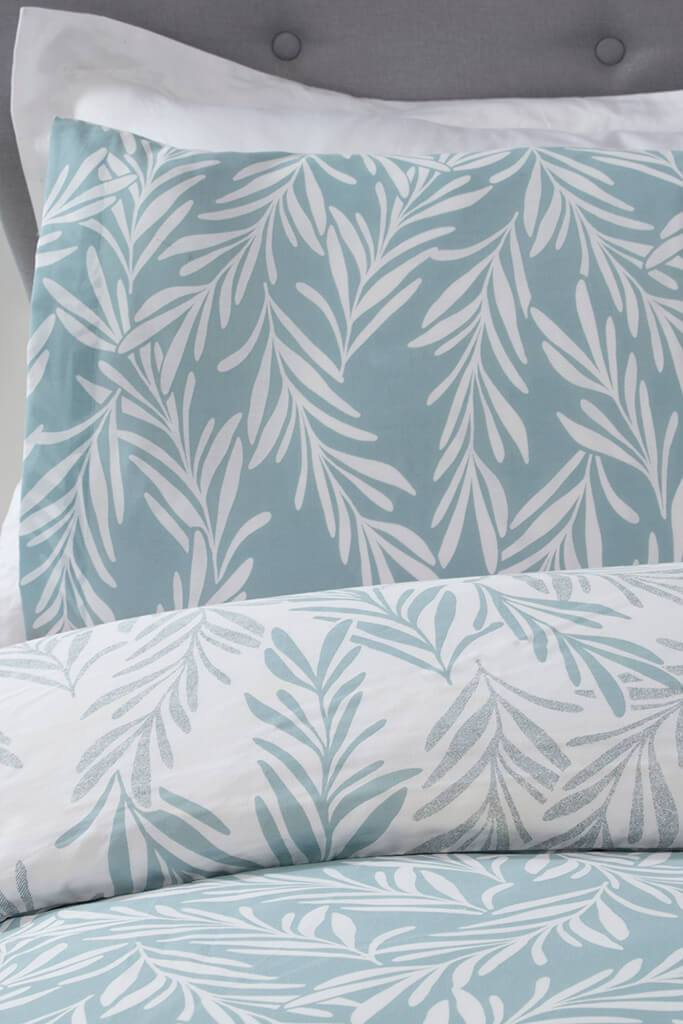 Sage Single Trailing Leaf Duvet Set view 3