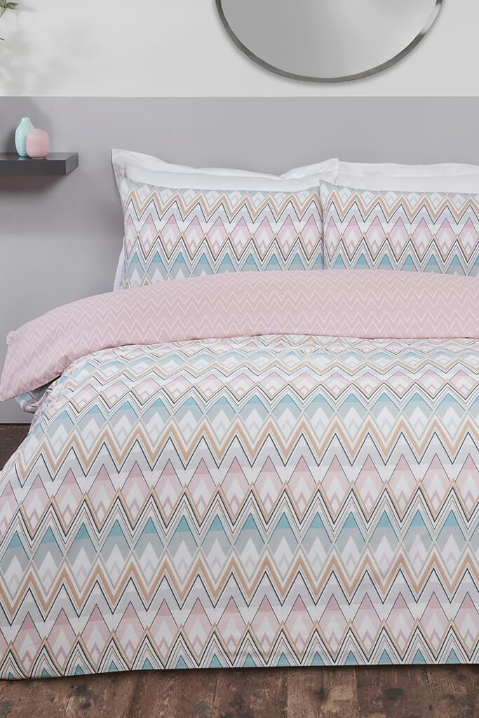 Multi Single Zig Zag Geo Duvet Set