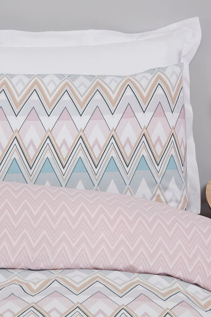 Multi Single Zig Zag Geo Duvet Set view 3