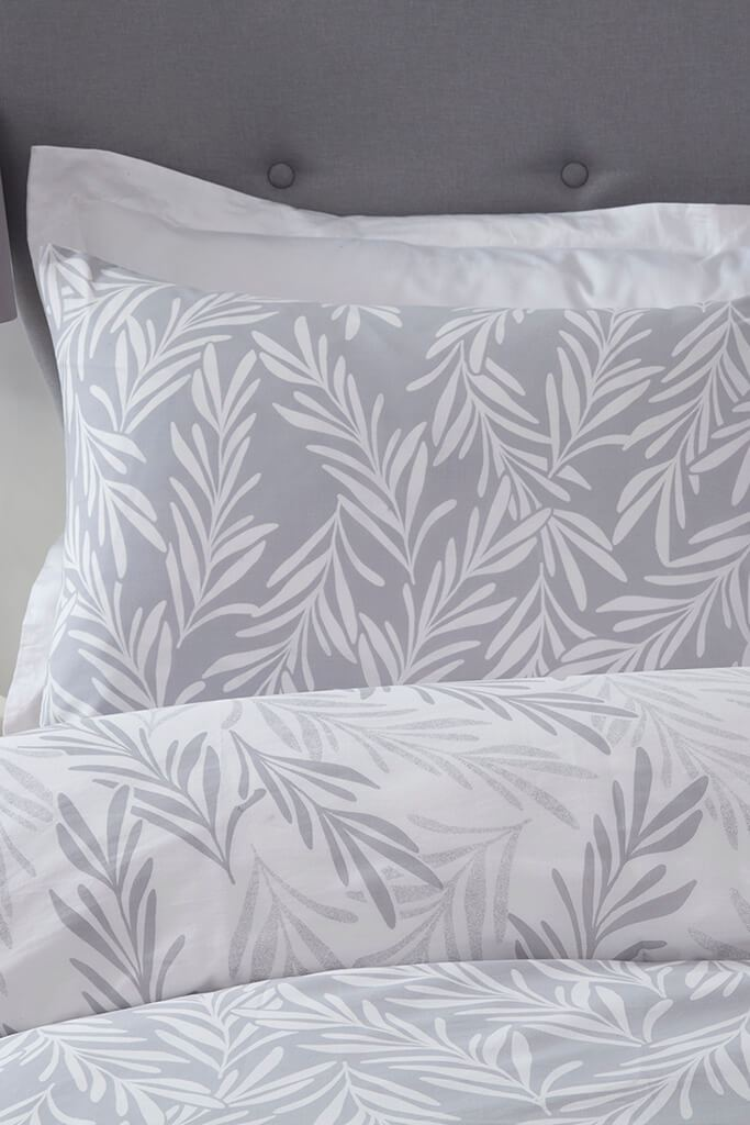 Grey Trailing Leaf Grey Duvet Set - Double view 3