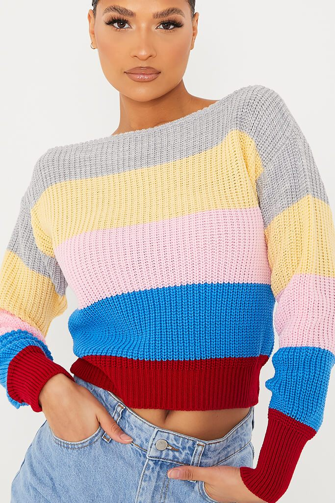 Red Striped Cropped Jumper view 5