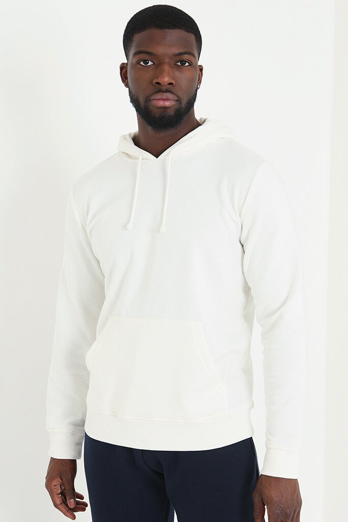 White Men's Basic Hoodie view main view