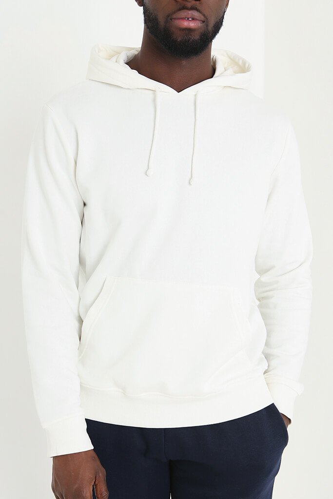 White Men's Basic Hoodie view 5