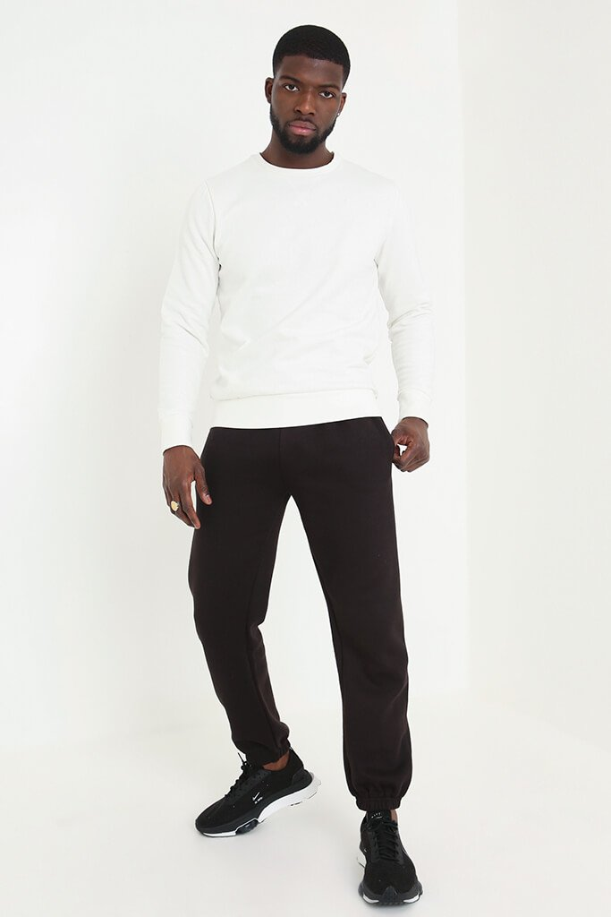 Cream Men's Basic Sweatshirt view 2