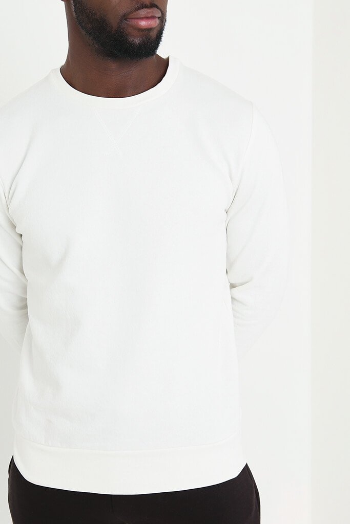 Cream Men's Basic Sweatshirt view 5