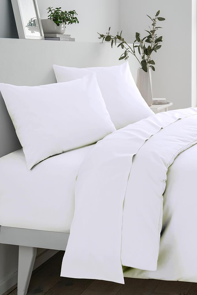 White Double Fitted Sheet