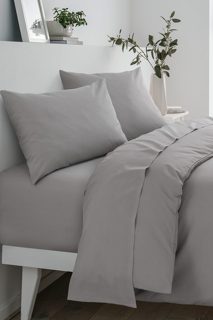 Light Grey King Fitted Sheet