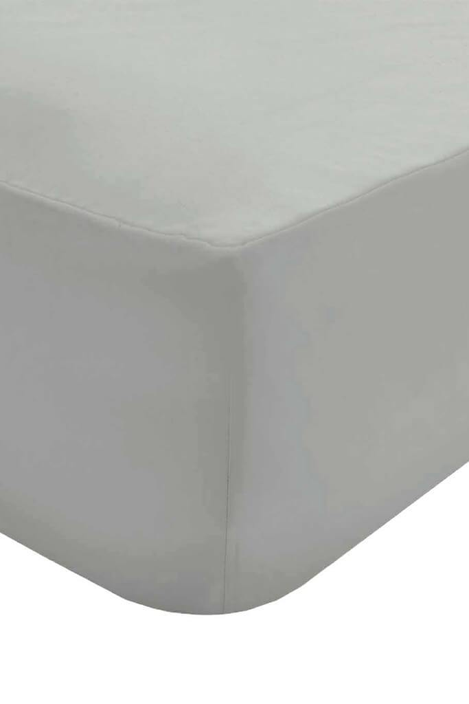 Light Grey King Fitted Sheet view 2