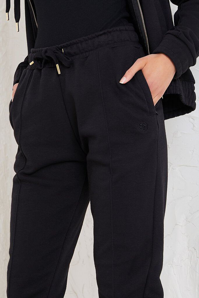 Black Sian Marie Joggers With Front Seam Detail view 5