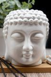 Stone Buddha Head Oil Burner