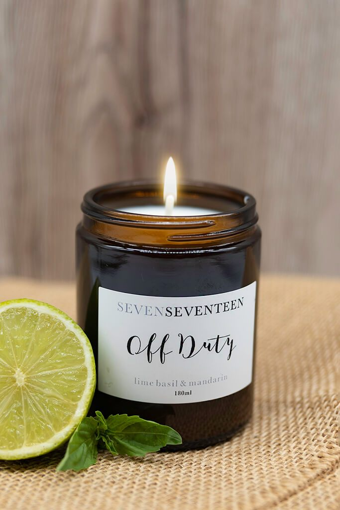 Amber Mood Boosting Candle - Off Duty / Lime Basil And Mandarin