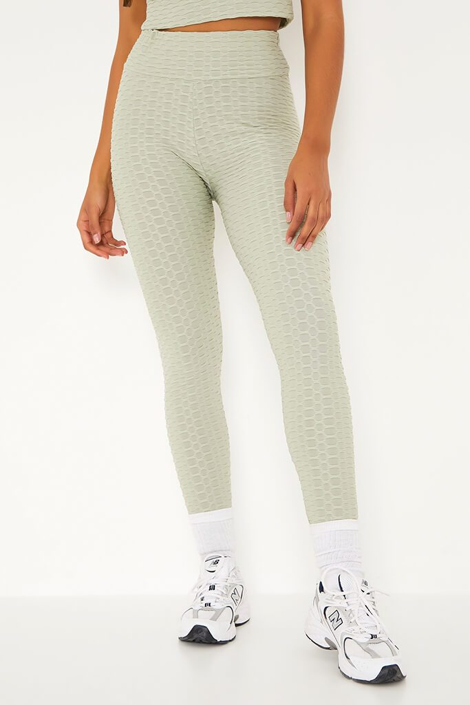 Sage Active Textured Gym Leggings view 2