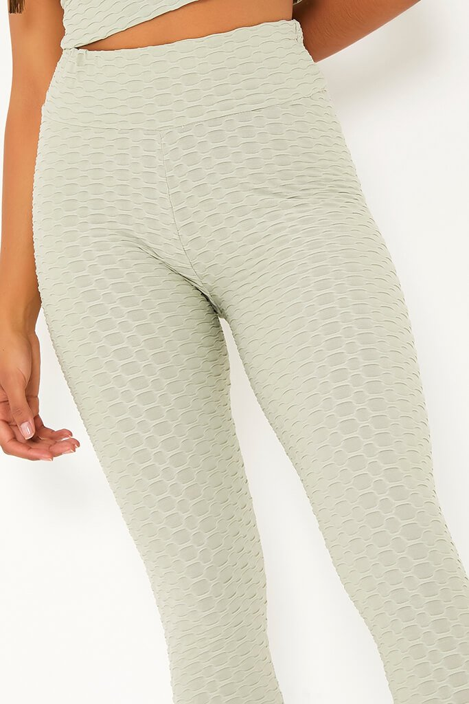Sage Active Textured Gym Leggings view 5