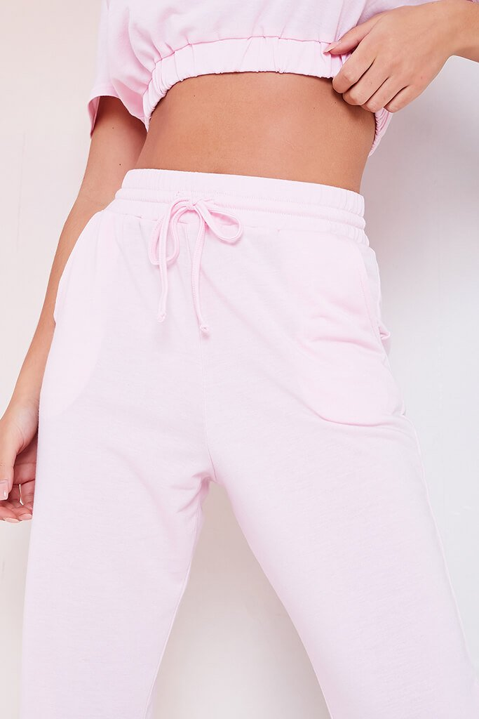 Baby Pink Elasticated Waist Cuffed Joggers view 5