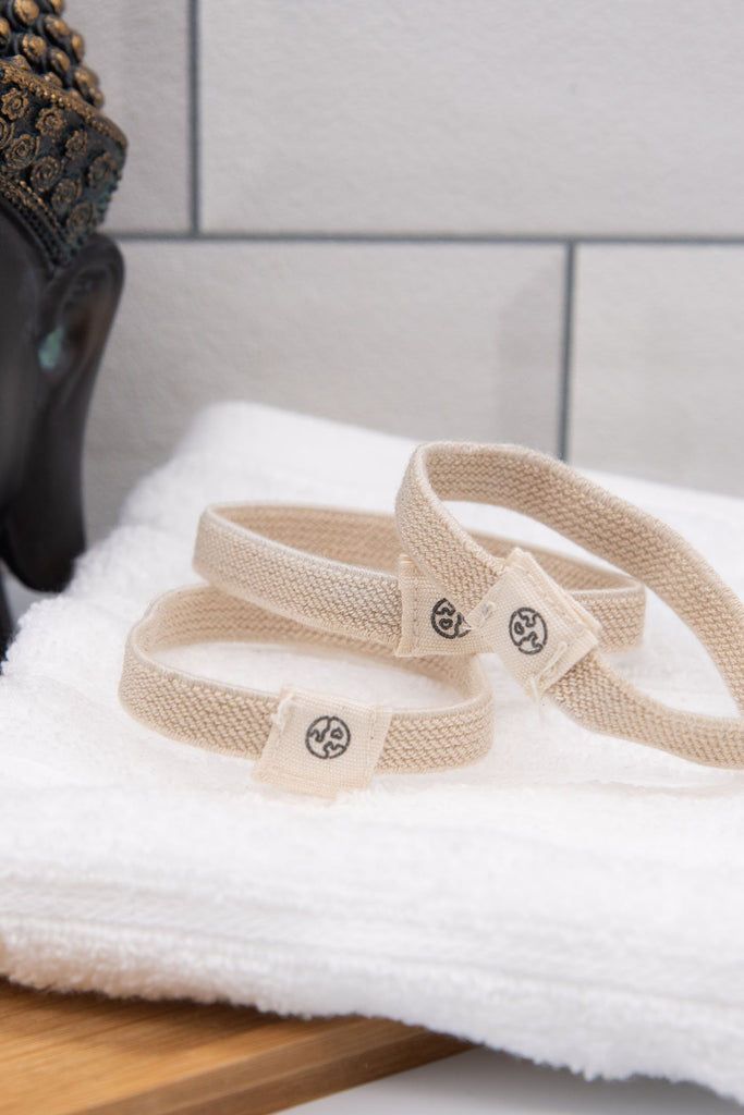 Cream Organic Cotton Hair Ties