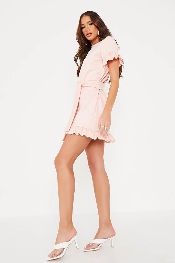 Pink Croc Belted Tea Dress view 3