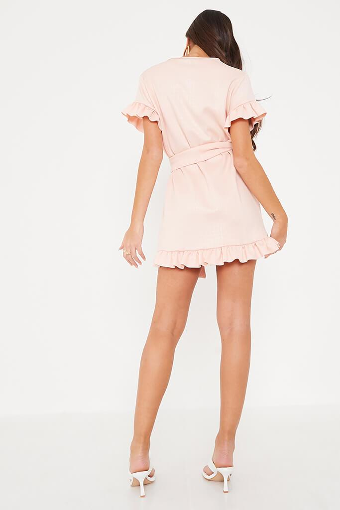 Pink Croc Belted Tea Dress view 4