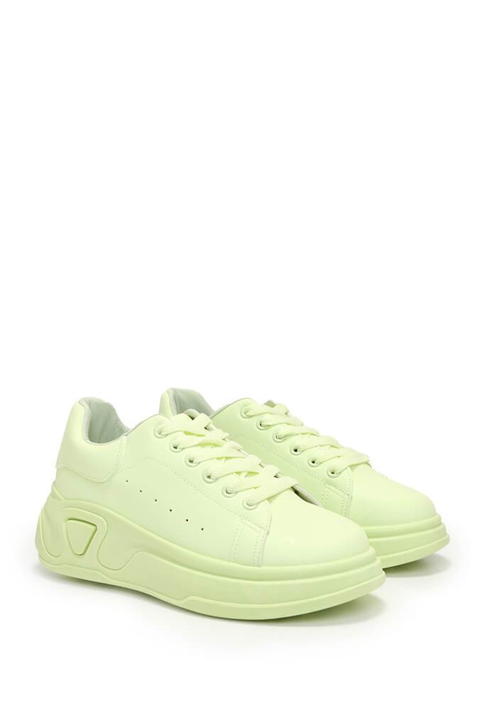 Lime Green Chunky Flatform Trainers