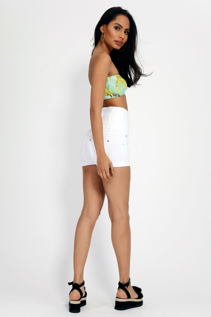 Multi Disco Ruched Bandeau Top