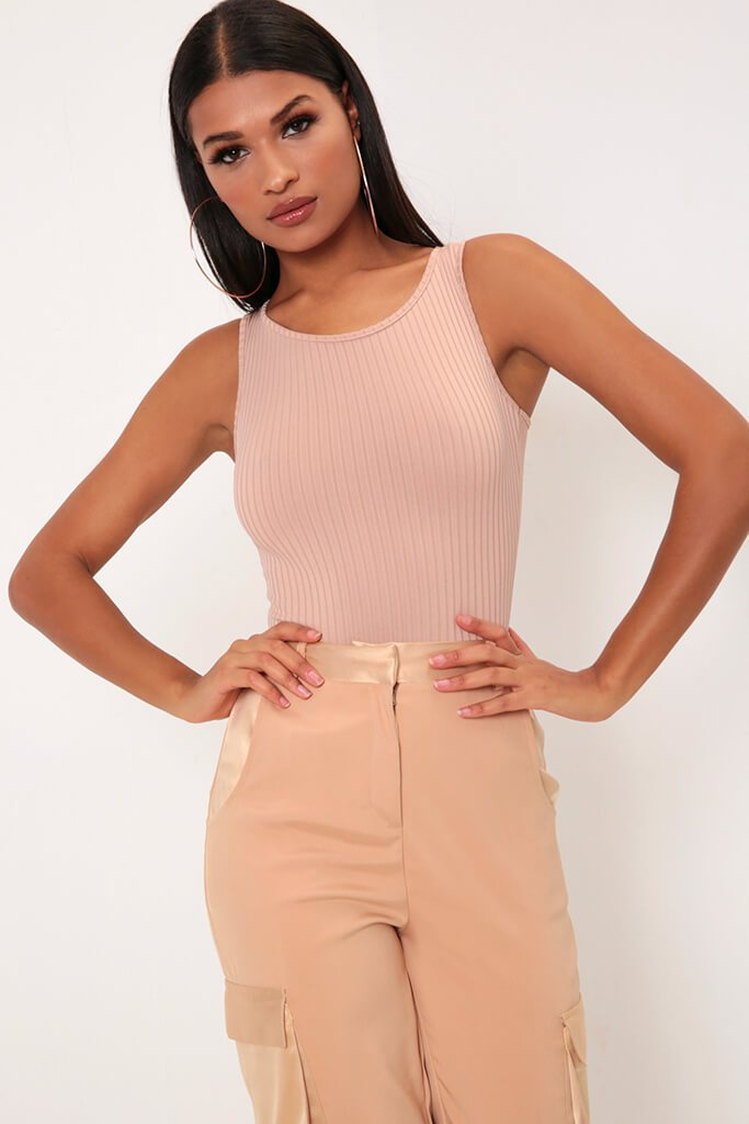 Nude Round Neck Bodysuit view main view