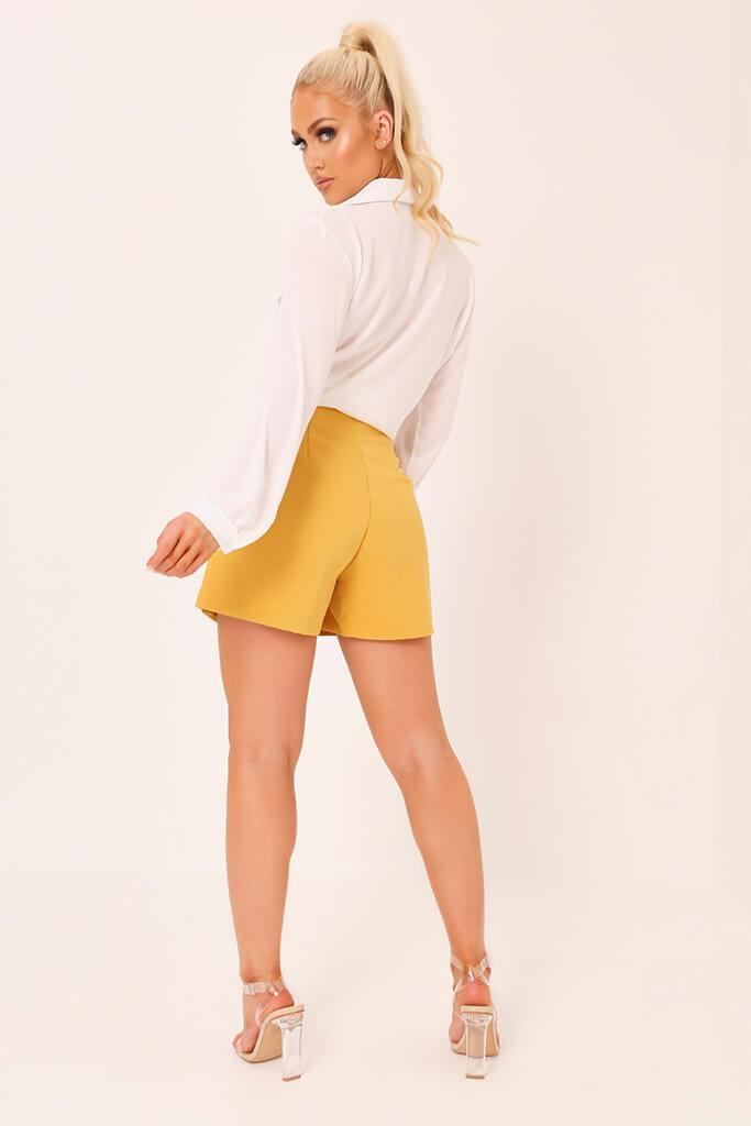 Honeydew High Waisted Inverted Pleat Shorts view 5