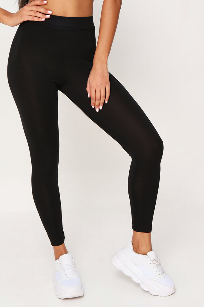 Black High Waisted Leggings view 2