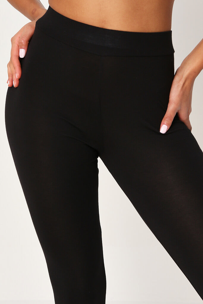 Black High Waisted Leggings view 4