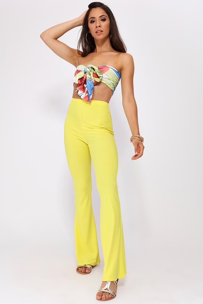 Yellow Flare Trousers