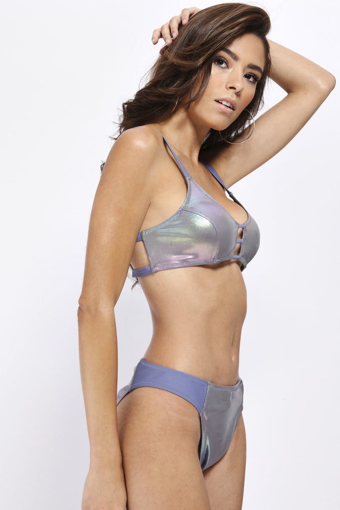 Purple Petrol Irridescent Bikini Bottoms