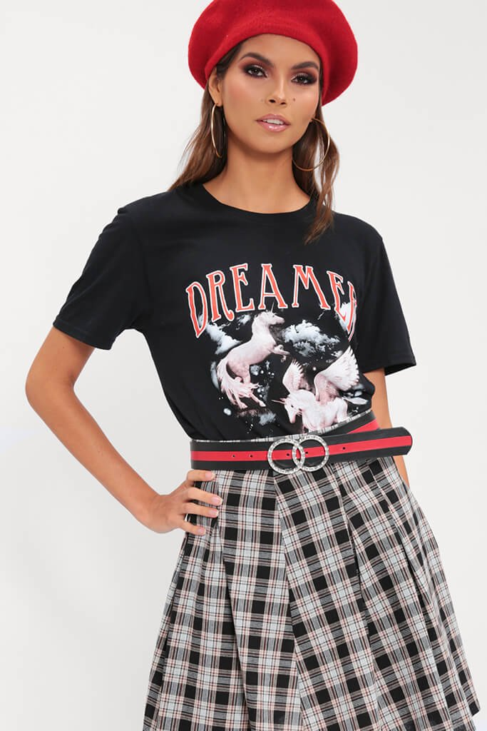 Black Graphic Dreamer T-Shirt view 4