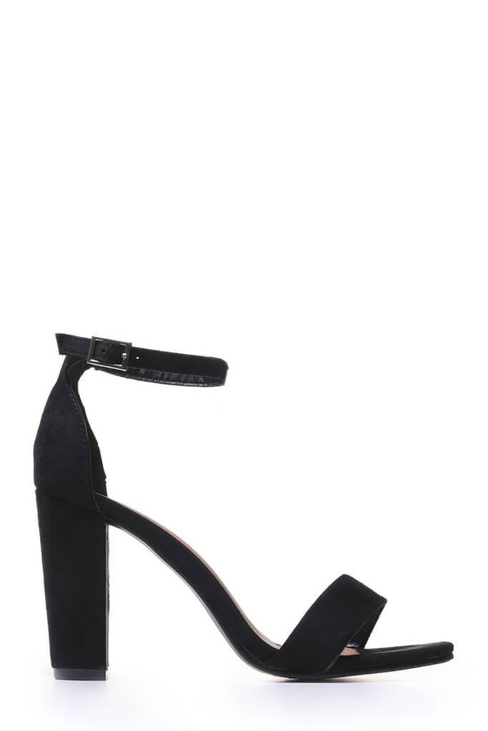 Black Block Heel Sandals view 4