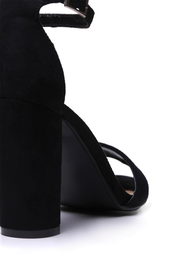 Black Block Heel Sandals view 5