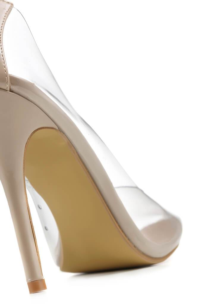 Nude Perspex Pointed Toe Heels view 4