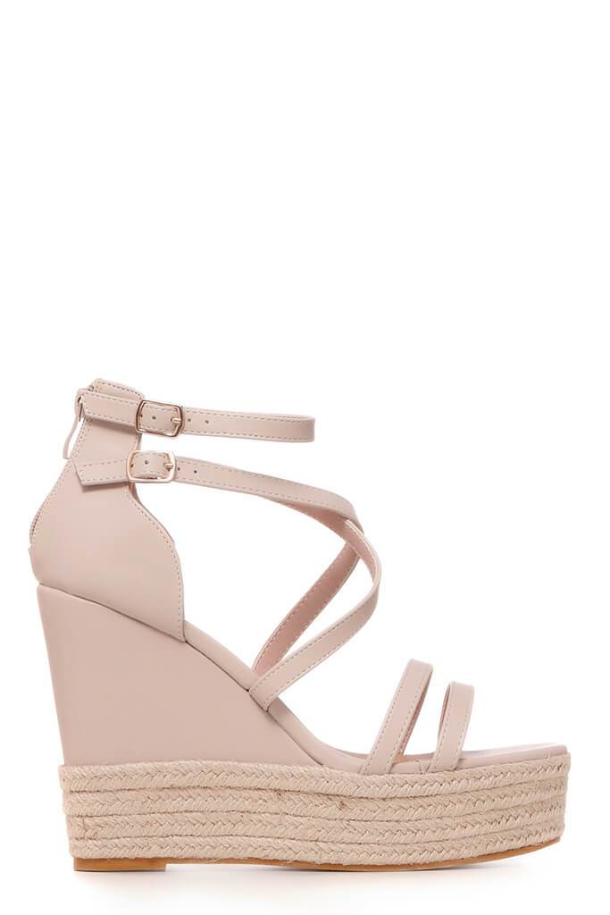 Nude Cross Over Wedges view 4