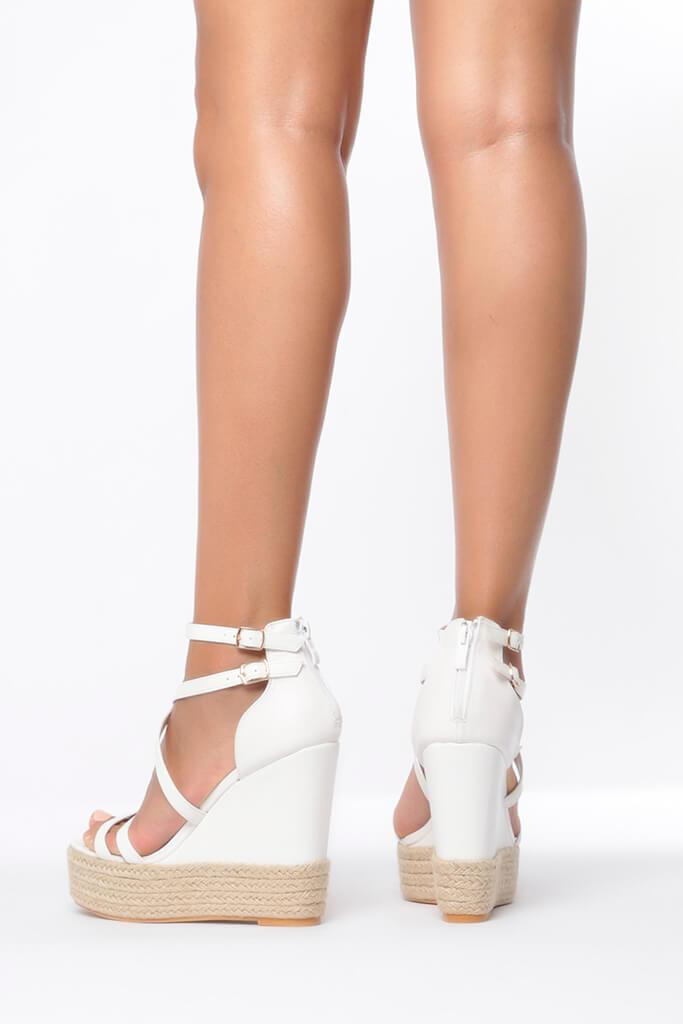 White Cross Over Wedges