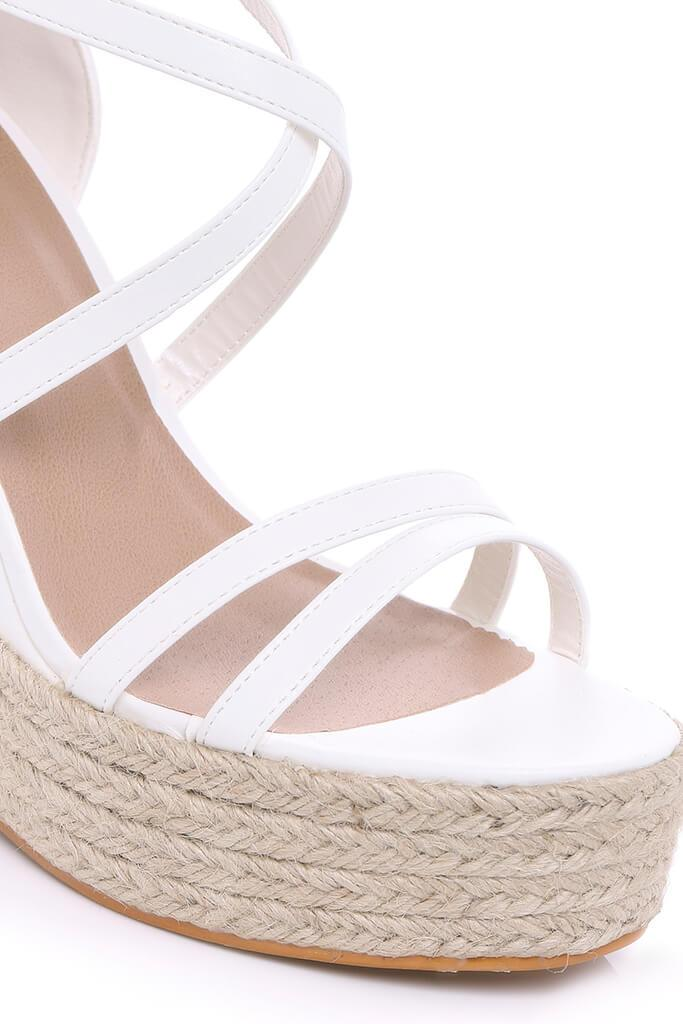 White Cross Over Wedges view 4