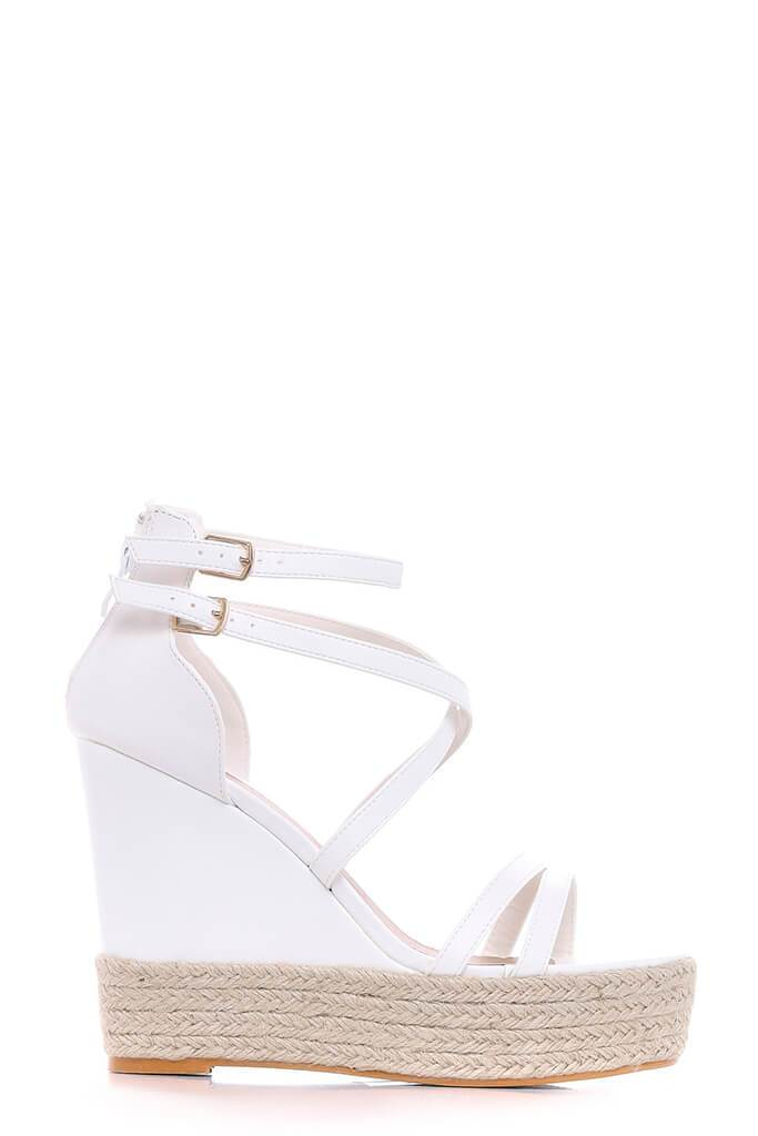 White Cross Over Wedges view 5