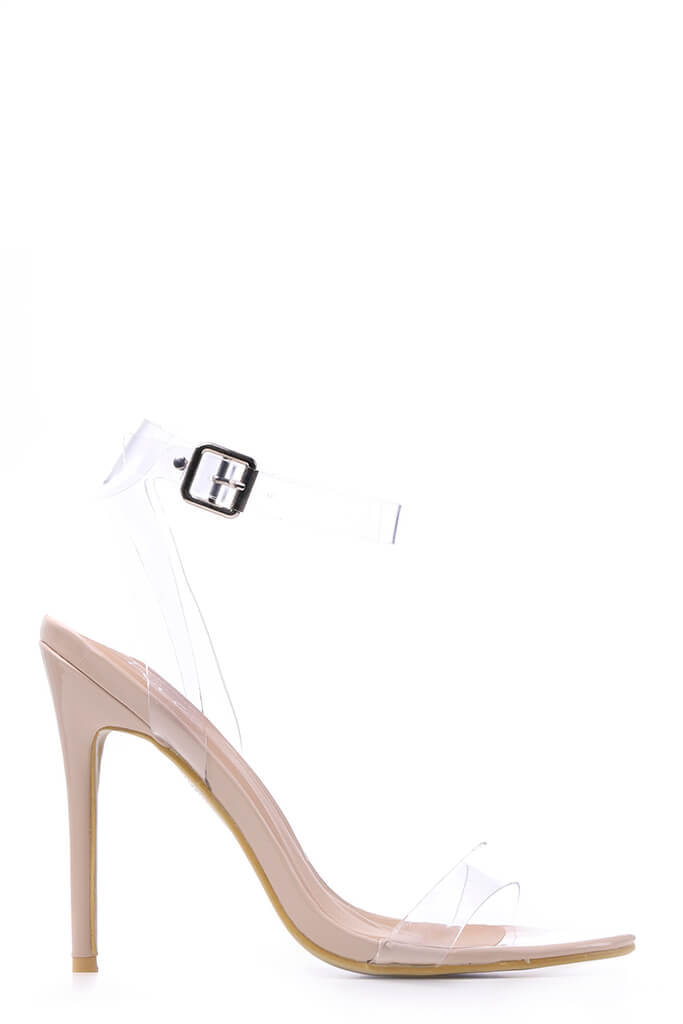 Nude Clear Strap Heels view 4